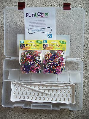 Fun Loom Colorful Rubber Band Bracelet Loom Kit Fun Diy For Kids W Storage Case