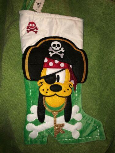 NWT Disney Parks Pluto Pirates of the Caribbean Christmas Stocking