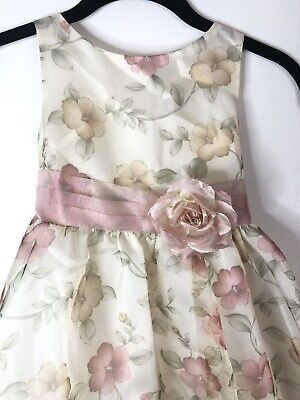 Kids Special Occasion (Kids Dream Organza and Tulle Special Occasion Dress 5/6 Cream Floral)