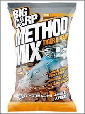BAIT TECH BIG CARP TIGER & PEANUT METHOD MIX GROUNDBAIT 2KG BAG