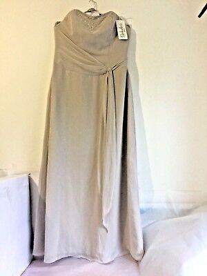BERKETEX EMILY FOX Leanne BRIDESMAID EVENING DRESS MA1060S Capuccino Size20 BNWT segunda mano  Embacar hacia Spain