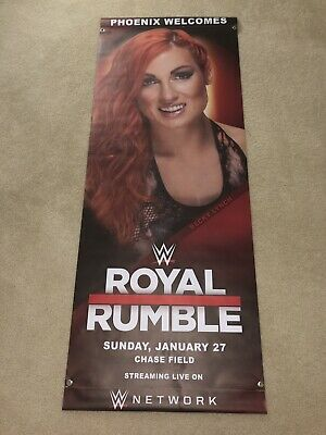 WWE World Wrestling Entertainment MEMORABILIA Banner Becky Lynch - Wwe Banner