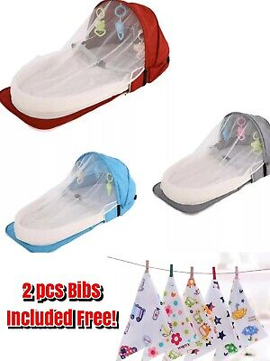 Baby Nest Pod Lounger Cotton Bionic Bed Crib Bag + Free Gift Bibs High Quality Cotton Bed Bag