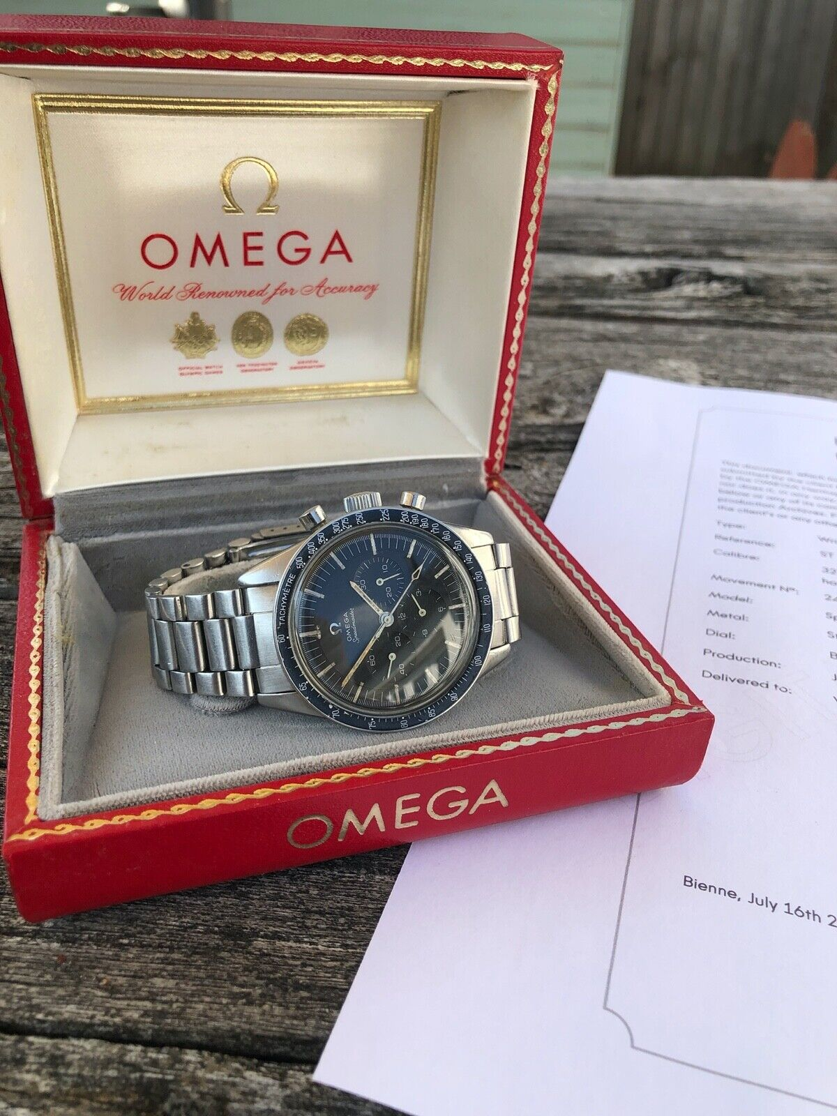 Omega Speedmaster 105.003-65, Created 4th July 1967, Extract, Boxed, serviced. - watch picture 1