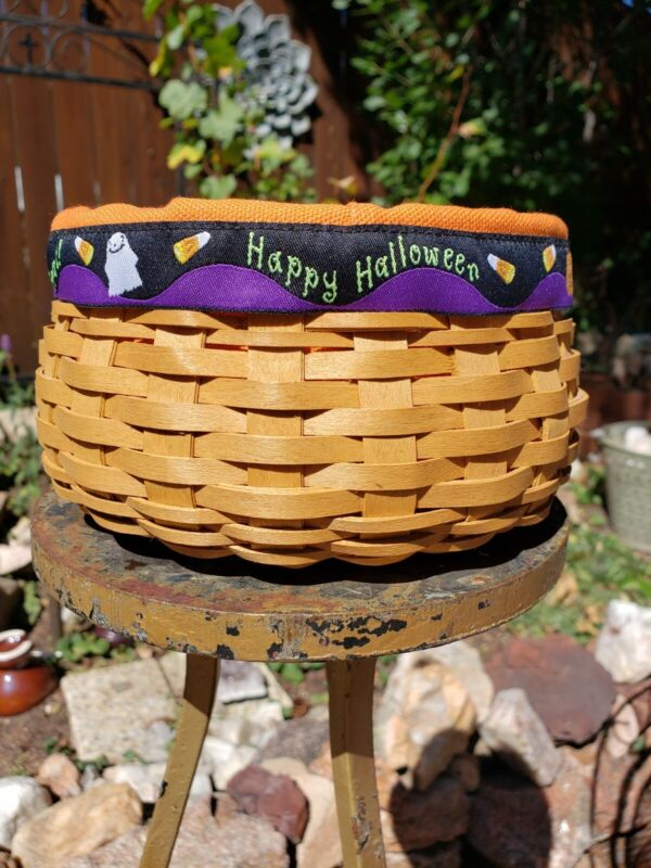"Longaberger Basket 6"" Round Happy Halloween 2004"