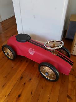 Kids Ride On Metal Vintage Race Car