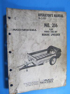 New Idea 216 Pto Manure Spreader Operators Manual