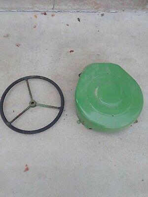 John Deere B Tractor Flywheel Cover And Steering Wheel