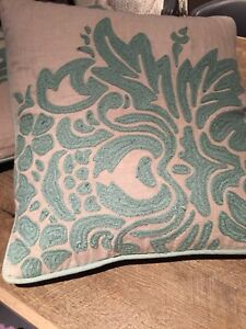 Pair of matching accent pillows cushions
