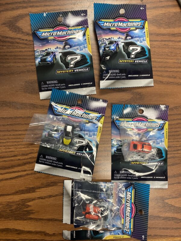Brand New Sealed Lot Of 5 Micro Machines Mini Vehicle Blind Bags Series 3