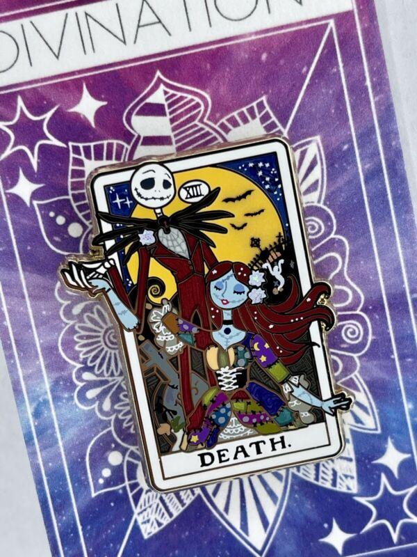 "Disney Fantasy Jack & Sally Tarot Mini Pin Divination  Powerline_Pintraders 1.5"""