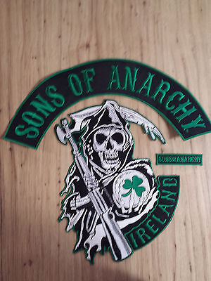Sons Of Anarchy Ireland Full Size Rocker   Jacket Patches Biker Gang Fx Tv Show