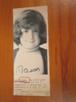 (Vtg Wire AP Press Photo Mason Reese Commercial Actor Raisin Bran, Dunkin Donuts)