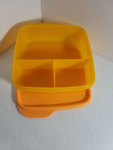 New TUPPERWARE Lunch-It® Container DIVIDED CONTAINER Free US Shipping Orange
