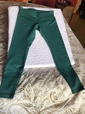 Lululemon Sz 10 New NWOT Leggings Turquoise Blue Green Yoga Work Out Pants M