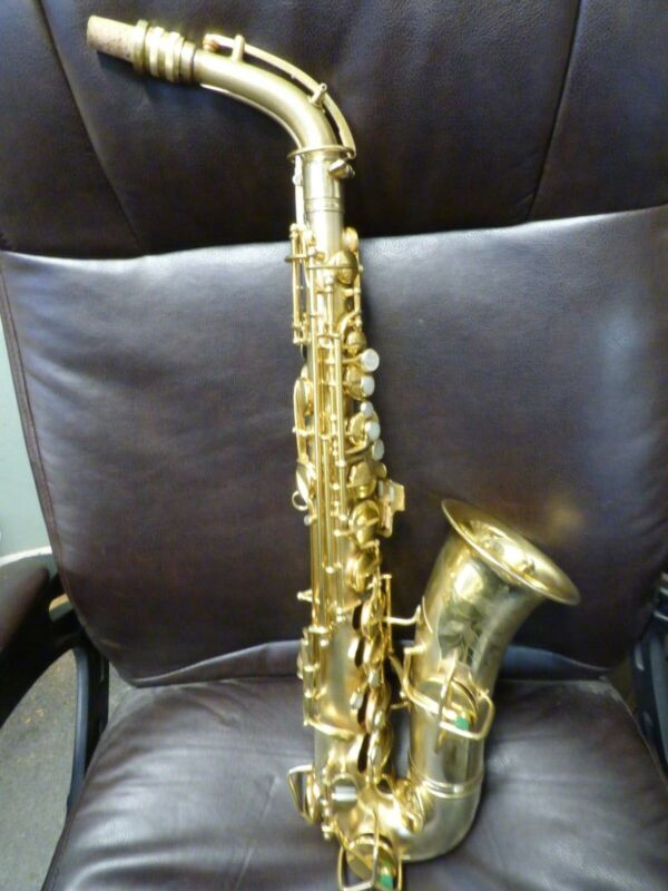 Very Nice Vintage 1924 Gold Plated Conn New Wonder Series I Alto Sax wcase