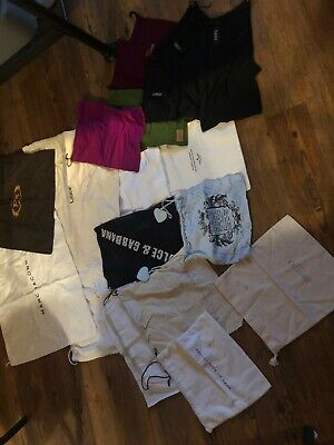 Dust bag lot 20 Bags designer Fendi Chanel Prada Gucci Prada Jimmy Choo VINTAGE