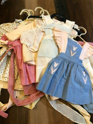 Vintage Baby girl dresses 1940s--collection of 11 Size 1