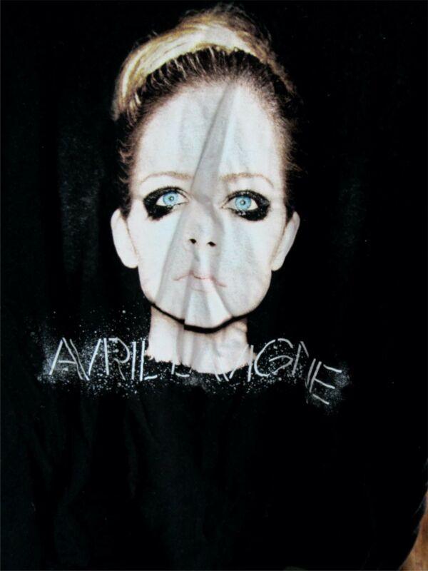 Avril Lavigne 2014 Tour T Shirt | Black with Face Portrait | Size LARGE