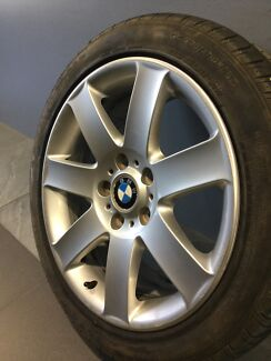 "BMW E46 325CI 17"" GENUINE ALLOY WHEELS AND TYRES Carramar Fairfield Area Preview"