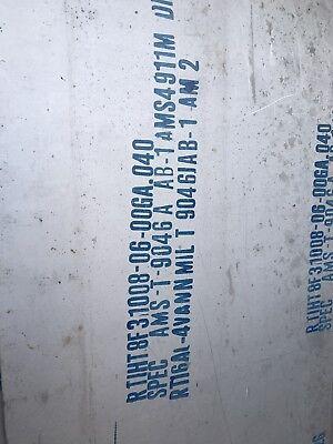 .040x12x36 6al-4v Titanium Sheet