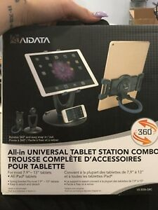 AIDATA all in universal tablet station combo