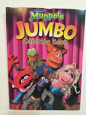 MUPPETS JUMBO COLORING BOOK Unused JANICE RIZZO CLIFFORD Gonzo Fozzie ANIMAL