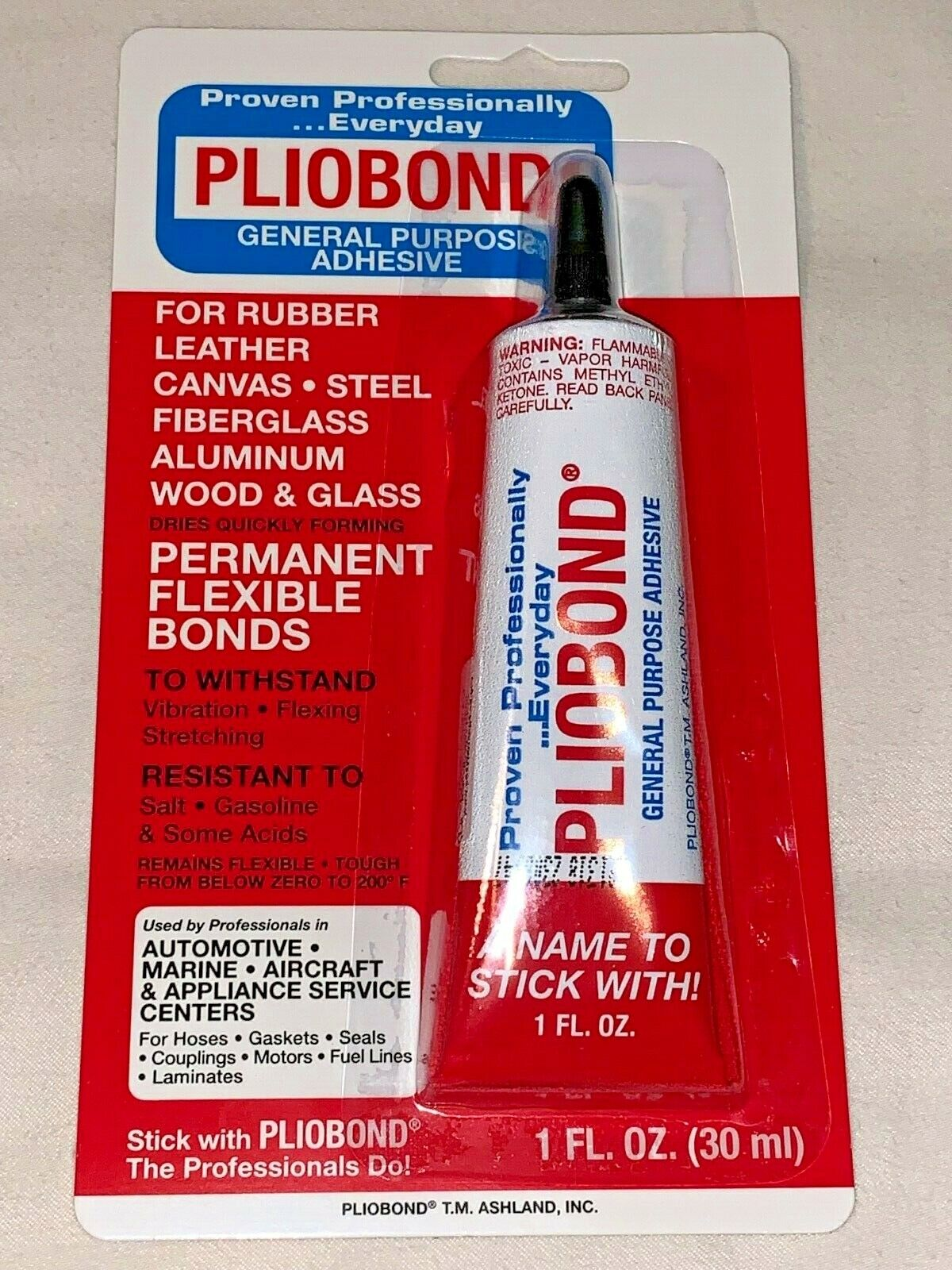 Pliobond Adhesive Rubber Leather Steel Fiberglass Aluminum Wood glass Tube 1 Oz Adhesives & Tape