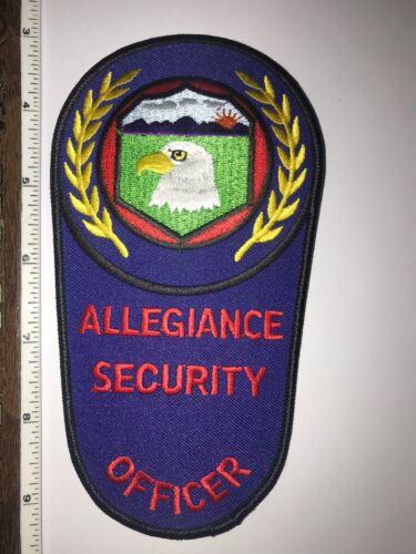 Allegiance Security Virginia Police Shoulder Patch New