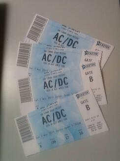 tickets for ac/dc concert for saturday 7th, sydney City North Canberra Preview