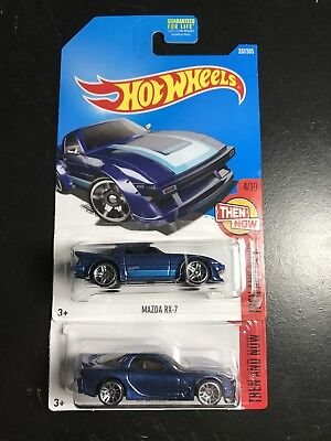 HOT WHEELS NOW AND THEN MAZDA RX-7 & '95 MAZDA RX-7