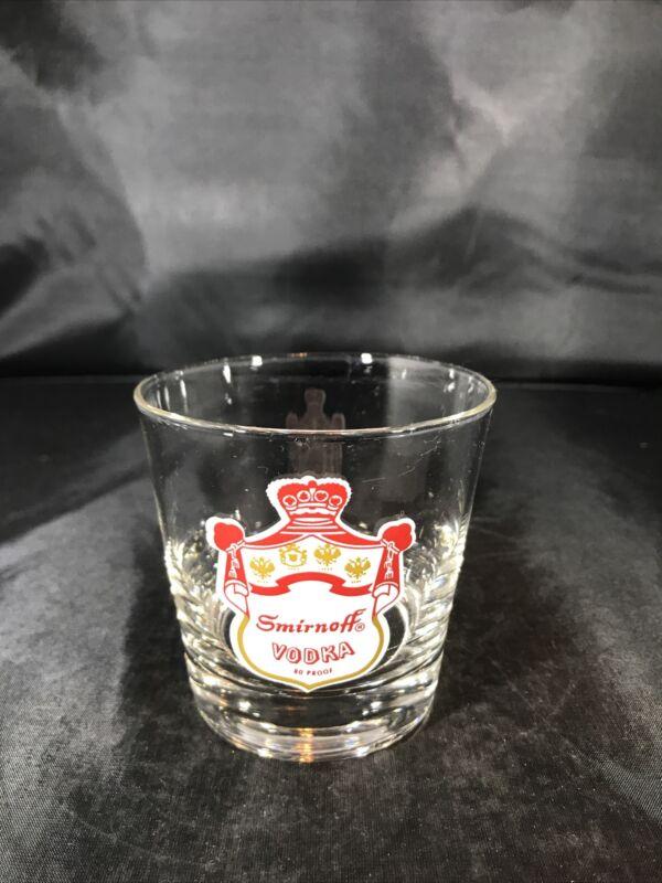Smirnoff Vodka Rocks Glass Excellent Condition