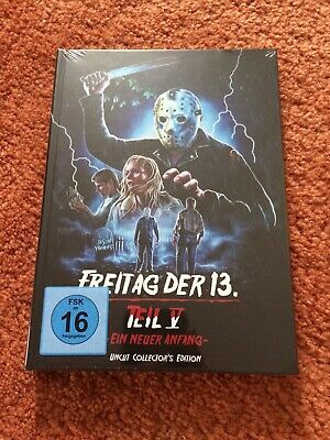 Mediabook Friday the 13. Part 5 V Ein Neuer Anfang Jason Blu-Ray Cover - Halloween Blu Ray Media Book