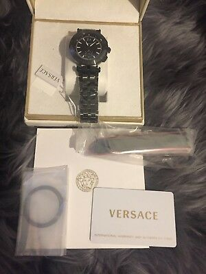 VERSACE V-Race Chronograph Black Dial Men's Watch - £1900