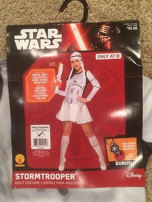 DISNEY STAR WARS WOMEN'S STORMTROOPER DRESS COSTUME SIZE SMALL OR MEDIUM BNWT - Stormtrooper Costume Women