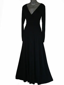 BLACK-LONG-MAXI-EVENING-PARTY-COCKTAIL-DRESS-SIZE-8-10-12-14-16-18-20-UK