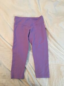 Cropped purple lululemon leggings