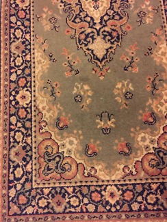 Hall runner rug traditional style pure wool