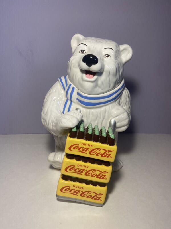 Coca Cola Polar Bear Delivery Cookie Jar