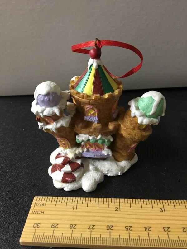 Christmas Ornament Ice Cream Come Castle