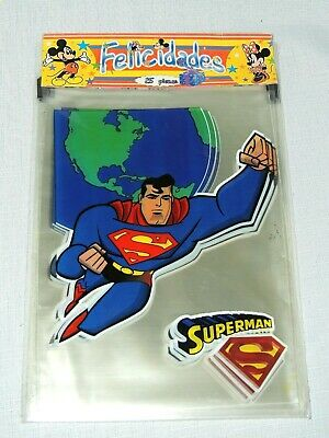 NEW SUPERMAN JUSTICE LEAGUE  25 CELLO BAGS PARTY SUPPLIES