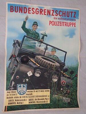BGS Bundesgrenzschutz original Werbeplakat um 1965 !! ca60x84cm TOP !!!!