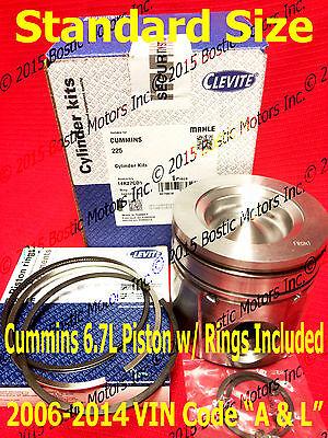 Dodge CUMMINS 6.7 6.7L PISTON STANDARD w/Rings 2006-2014 MAHLE ()