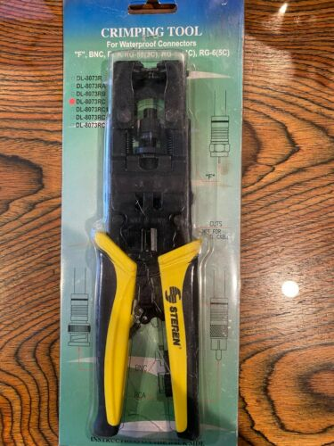 Steren BNC, RCA, RG Crimping tool for Waterproof Connectors