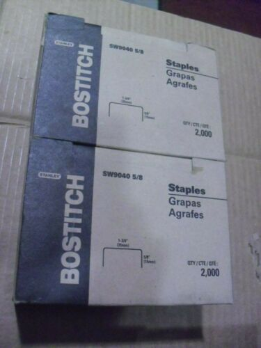 "2 Boxes Bostitch 1-3/8"" Crown 3/4"" Long Staples # SW7437 3/4"