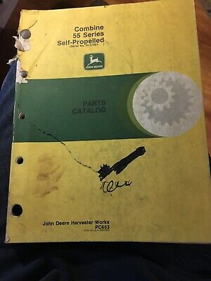 John Deere 55 Combine Parts Catalog Manual 1968
