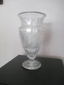 vase medicis baccarat cristal signe sur le pied baccarat ebay. Black Bedroom Furniture Sets. Home Design Ideas