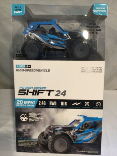 Power Craze Shift 24 Mini RC High Speed Buggy RED New Box Damaged  - $15.00