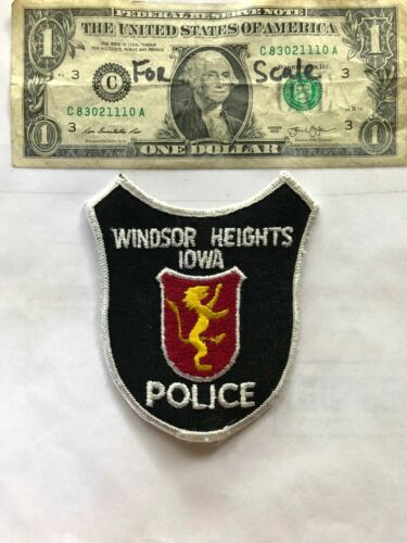 Windsor Heights Iowa Police Patch Un-sewn great shape