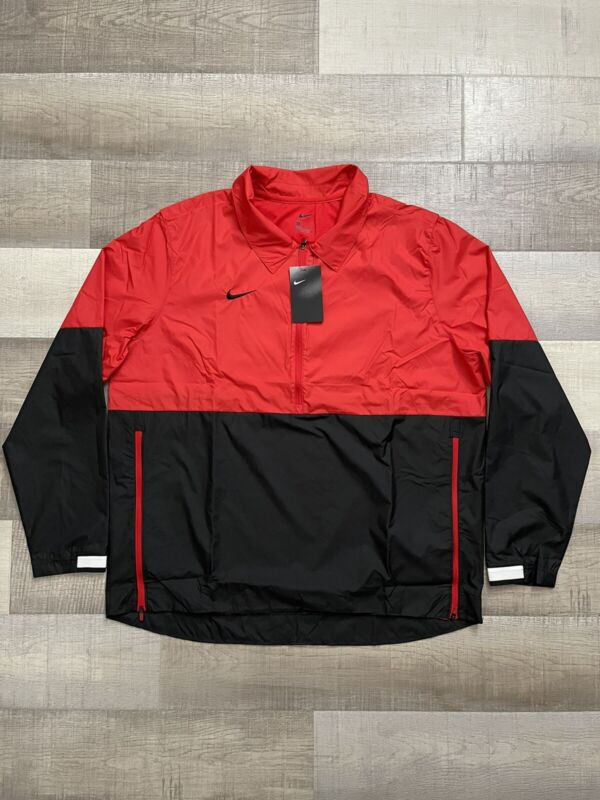 Nike Lightweight Coaches Jacket|Wind Breaker CI4474-657 Red|Black NWT! Size XL